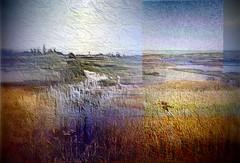 Memories of North Dakota (Joana Rojas - still here) Tags: sky art nature water memories textures northdakota layers prairie plains slough grasslands greatplains ineffable concordians vftw theawardtree