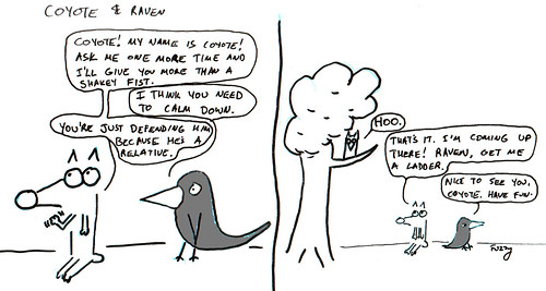366 Cartoons - 211 - Coyote and Raven