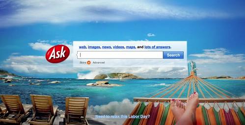 Ask.com Labor Day Logo