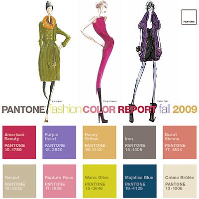 Pantone Color Report Fall 2009
