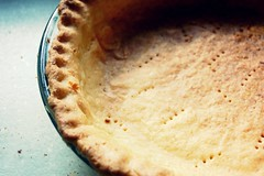 whole & intact coconut pie crust