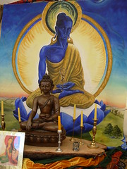 Buddhafield East Blue Buddha painting and strine