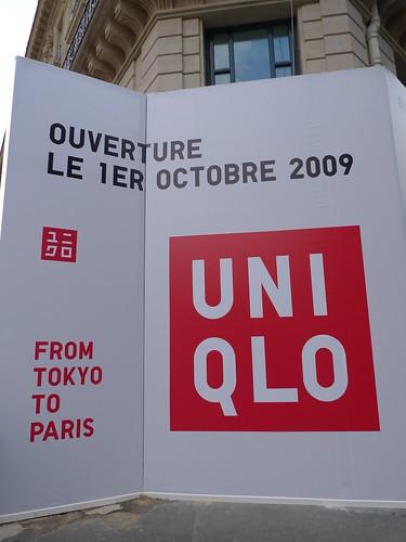 Façade Uniqlo - septembre 2009