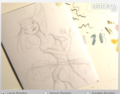 Inky Dancer, pencil sketch phase - #sweatshop: http://ustre.am/3Qjc
