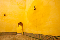 Morocco-090604-351 (Kelly Cheng) Tags: africa travel colour horizontal architecture design daylight arch outdoor mosaic muslim religion tomb culture vivid nopeople courtyard unesco morocco mausoleum copyspace meknes zellij mausoleumofmoulayismail pickbykc