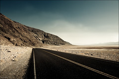 Road in Death Valley (Lucas Janin | www.lucasjanin.com) Tags: california road blue sky usa mountain color landscape iso200 nikon desert outdoor explore ciel deathvalley 24mm f80 nikkor paysage lightroom nikond700 lucasjanin afsnikkor2470mmf28ged sec
