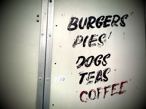 Burgers/Pies/Dogs/Tea/Coffee