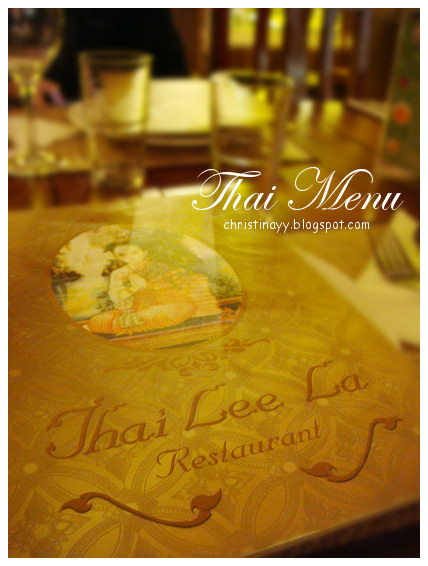 Highfield: Thai Lee La Restaurant