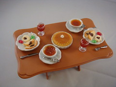 Dollhouse Miniature - Simple Thanksgiving Meal for two