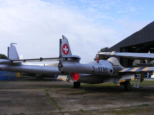 Warbird picture - DH.112 Venom Swiss Air Force J-1790 de Havilland Aircraft Heritage Centre
