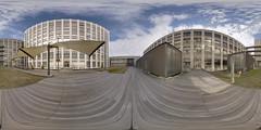 Patio (vitroid) Tags: panorama university patio nagoya handheld hdr peleng equirectangular k100d