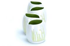 Vine Cups (Amanda DelaCruz) Tags: vines ceramics handmade cups mouldmade