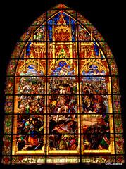 Vidriera de la Sala Capitular de la Colegiata de Roncesvalles, Navarra