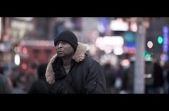 She was there! (James Yeung) Tags: street newyork bokeh candid timessquare cinematic