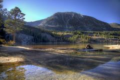 Rock Creek Lake (Aerogami.com) Tags: california autumn lake creek lago eos lac sierra alpine sierras sierranevada bishop rockcreek rockcreeklake rockcreekcanyon aerogami