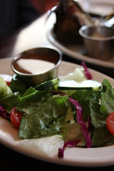 house salad with balsamic