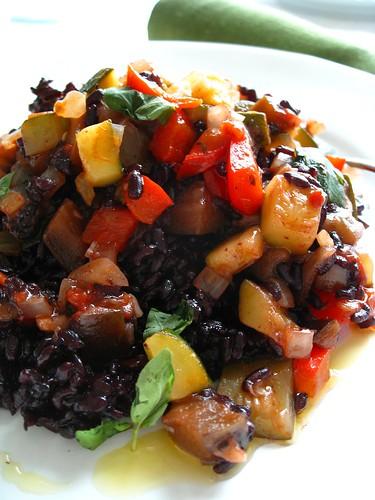 ratatuille with black rice