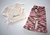 Blessing  - ruffled capris & embroidered bamboo wrap shirt - newborn