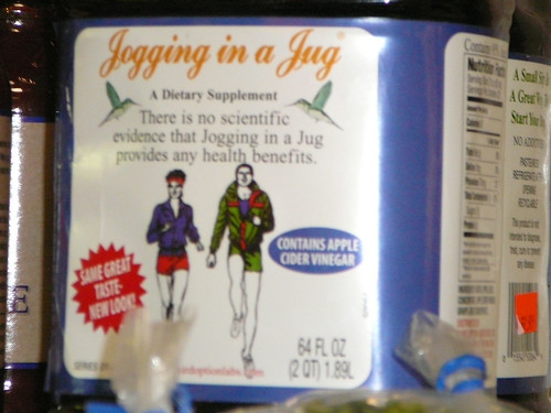 If I knew jogging came in a jug I would have bought it ages ago!