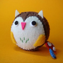 Owl Measuring Tape (feltmates!) Tags: mushroom handmade felt tape kawaii owl measuring feltmates