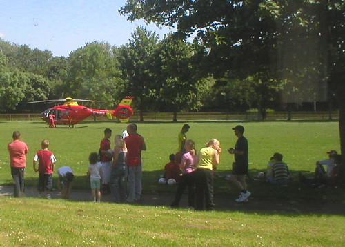 Air Ambulance on my doorstep!