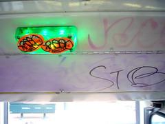 Slap Tag (davitydave) Tags: sf sanfrancisco urban streetart bus subway graffiti publictransportation muni commuter greenlight passenger publicart curbed sfist slaptag trainstalking