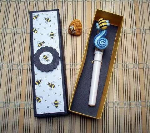 Custom box, pin and pen