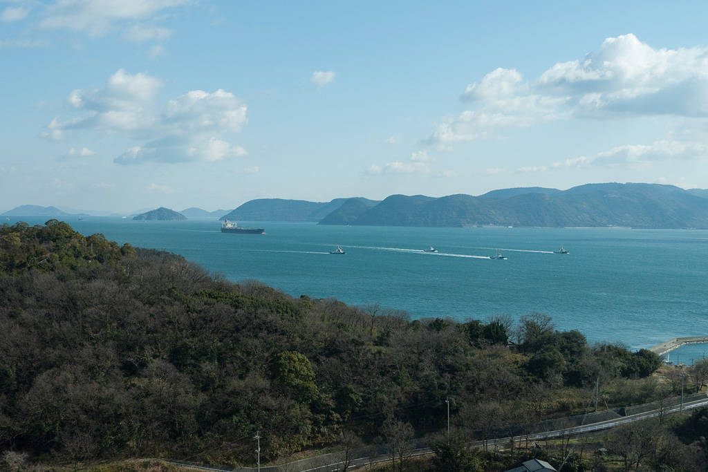 Yoshima Island and Seto Inland Sea