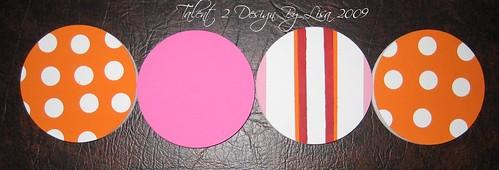 """5"""" Round CLASSIC """"Pink and Orange Design"""""""