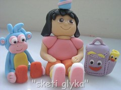 Dora all together! (Niki SG) Tags: birthday cake candy boots dora cupcake sugarpaste fontant httpwwwsketiglykagr