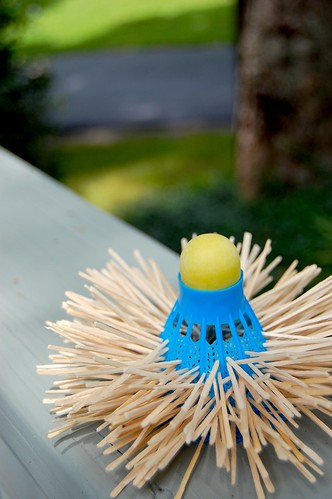 Lawn Party- Shuttlecock Toothpick Holder
