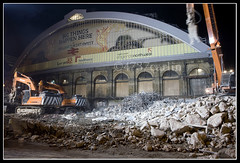 Lime Street (Brian Sayle) Tags: city nightphotography england night liverpool canon nightshot centre demolition nighttime demolished 1740 rubble limestreet canon1740 ef1740mmf4lusm 400d canon400d liverpoolci