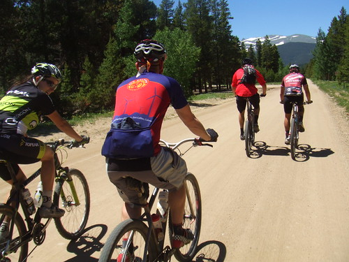 Mtb group ride at Nederland, CO