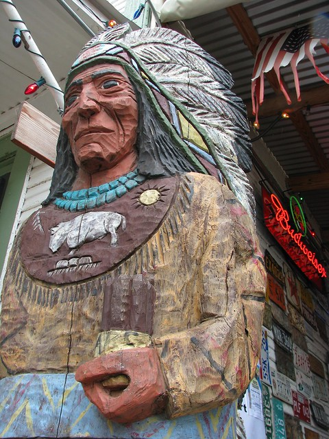 Picture A Day July 7, 2009 - Cigar Store Indian at Bandera by mlhradio