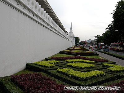 Exterior wall of a giant Wat