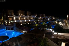 Rodi-piscine (mago52) Tags: light sea holiday pool night mare village greece grecia rhodes notte rodi vacanze piscine villaggio nikond80 mago52