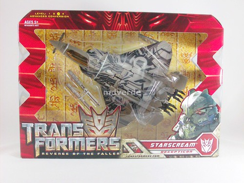 Transformers Starscream RotF Voyager - caja