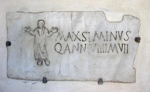 An inscription in Santa Maria in Trastevere