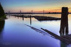 Golden Ears Bridge (janusz l) Tags: longexposure bridge sunset vancouver geotagged twilight translink mapleridge soe langley fraserriver hdr janusz leszczynski albionferry anawesomeshot goldenearsbridge extradosed bestofmywinners 003504 geo:lat=49200259 geo:lon=122646133