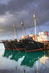 Whaling boats, Reykjavik Harbour, Iceland (**Anik Messier**) Tags: boats iceland harbour reykjavik fleet hdr vessels blueribbonwinner hvalur reykjavikharbour hvalur9re399 commercialwhaling whalingboats citrit whalingfleet theperfectphotographer secondcodwar hvaltr artistpick