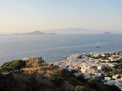 Panorama of Nisyros (lorenzog.) Tags: travel sea panorama water canon landscape island mare greece 2009 nissiros nisyros dodekanissos ilobsterit