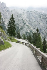 Hairpin turn leading to the Eagle's Nest (jayinvienna) Tags: road mountain alps germany bayern deutschland bavaria 1938 hitler adolfhitler eaglesnest kehlsteinhaus hairpin bandofbrothers fuhrer berchtesgadenland germanalps engineeringmasterpiece martinbormann berschtesgaden