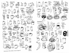 Everything I ate or drank (Don Moyer) Tags: food moleskine illustration notebook sketch drawing moyer donmoyer