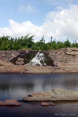 Rocky River (Megan Lorenz) Tags: canada nature water newfoundland river landscape outside outdoors waterfall fishing scenery stream view scenic falls flowing therock blurredmotion colinet the4elements rockyriverfishway