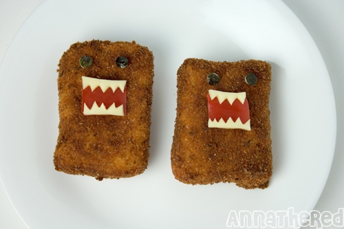 Domo-kun croquette with regular bread crumbs (just a bit less fuzzy)