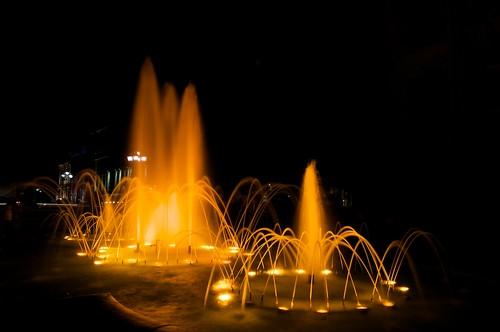Vauquelin Square Fountain at night