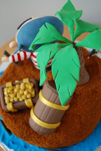 Pirate's treasure cake - palm tree