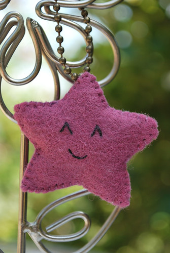 Purple Star Keychain
