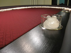 Cup holders (surf1punk) Tags: lighting wood table rope casino poker pokertable cupholders pokerlighting