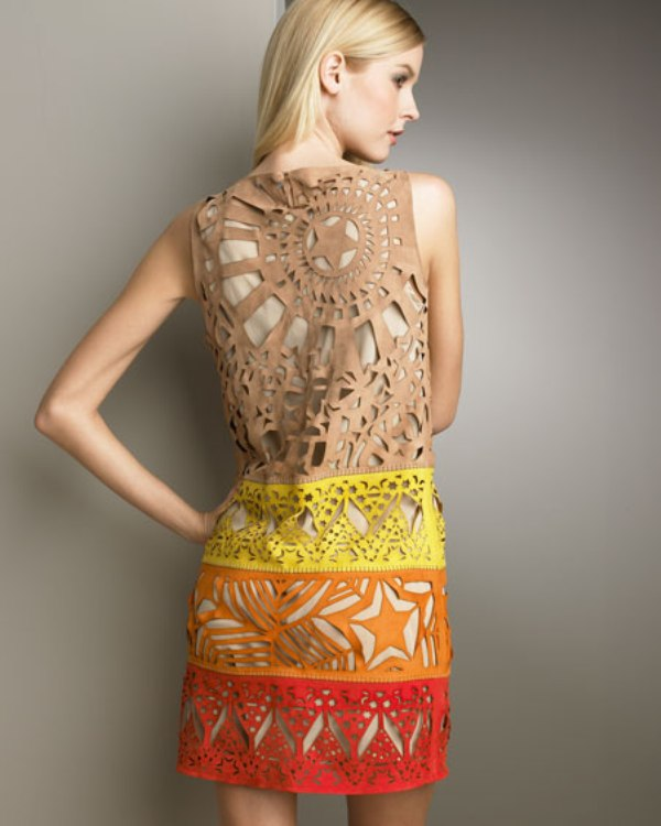 Laser cut dress Emilio Pucci